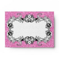 Pink & White A6 Gothic Baroque Envelopes