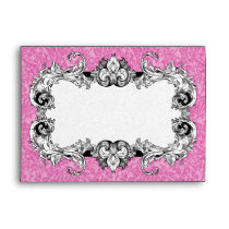 Pink & White A7 Gothic Baroque Envelopes
