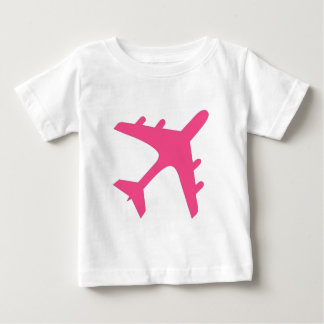 Pink white airplane design t-shirts