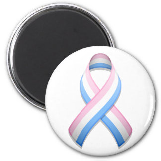 Pink White and Blue Awareness Ribbon Magnet