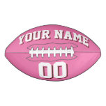 PINK WHITE AND BROWN Custom Football
