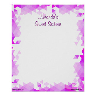 Pink, White and Fuchsia Sweet Sixteen Sign In