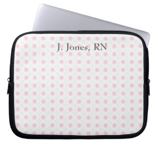 Pink, White, and Gray Circle Design Computer Sleeve