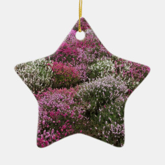 Pink, white and Purple bushes blossom Christmas Ornament