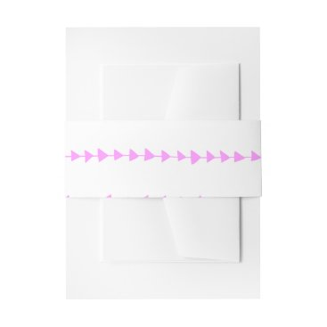 Aztec Themed Pink White Aztec Arrows Pattern Invitation Belly Band