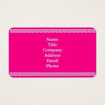 Aztec Themed Pink White Aztec Border 4Danielle Business Card