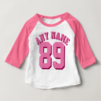 Pink & White Baby | Sports Jersey Baby T-Shirt