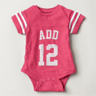 Pink & White Baby | Sports Jersey Design Infant Bodysuit