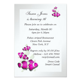 Pink white birthday engagement PERSONALIZE 5x7 Paper Invitation Card