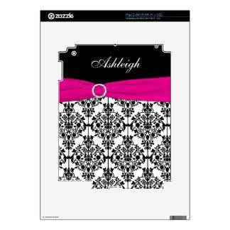 Pink White Black Damask iPad 2 Skin