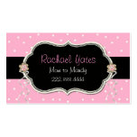 Pink, White, & Black Mommy Play Date Card Business Card Template