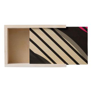 Pink White Black Vector Wooden Keepsake Box