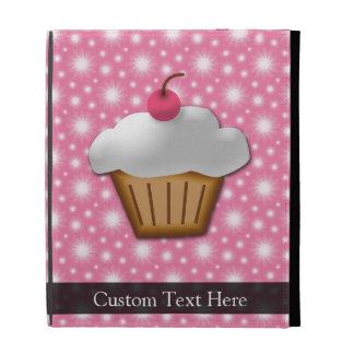 Pink/White Cherry Cupcake iPad Folio Covers