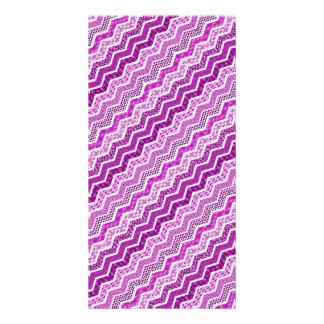 Pink White Chevron Geometric Designs Color Card