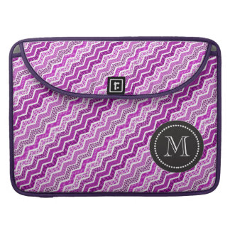 Pink White Chevron Geometric Designs Color Sleeve For MacBook Pro