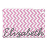 Pink White Chevron Pattern Cover For The iPad Mini