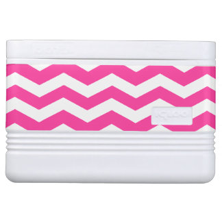 Pink & White Chevron Pattern Igloo Cooler