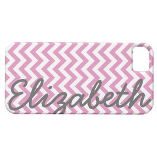 Pink White Chevron Pattern iPhone SE/5/5s Case