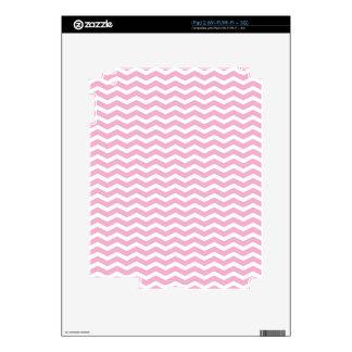 Pink & White Chevron Pattern Pt67 Skins For iPad 2
