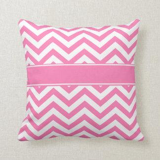 Pink White Chevron Pillow