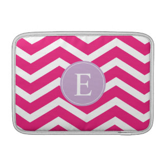 Pink White Chevron Purple Monogram MacBook Air Sleeve
