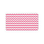 Pink white chevrons labels