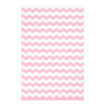 Pink white chevrons stationery design