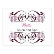 pink white Chic Business Thank You Cards