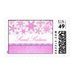 Pink & White Chic Snowflake Sweet16 Stamp