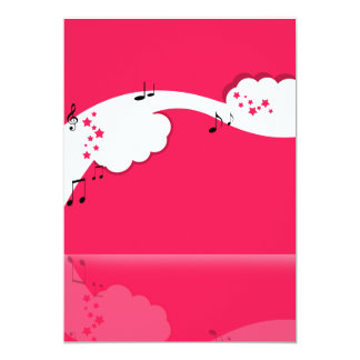 Pink White Clouds Card