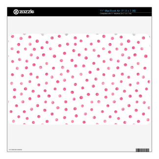 Pink White Confetti Dots Pattern MacBook Air Decal