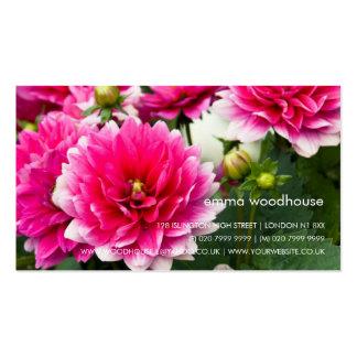 Pink & White Dahlia Business Card