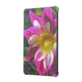 """PINK & WHITE DAHLIA WITH GOLD CENTER"" iPad MINI RETINA COVERS"