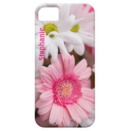 Pink & White Daisies Custom iPhone 5 Case