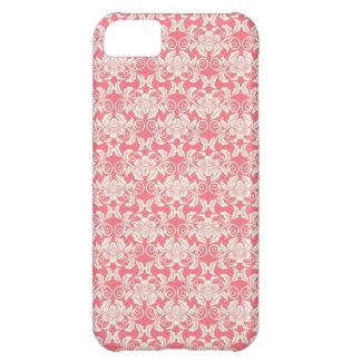 Pink White Damask Flower Pattern iPhone 5C Case