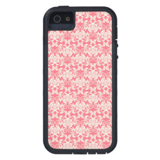 Pink White Damask Flower Pattern iPhone 5 Cases