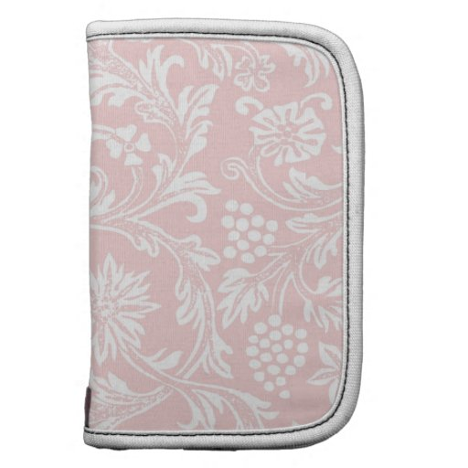 Pink & White Damask Folio Planners