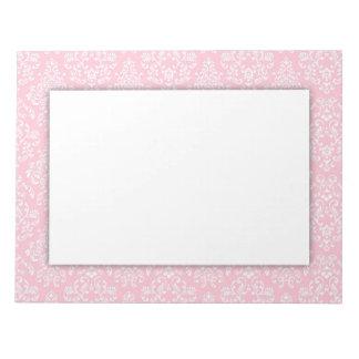 Pink & White Damasks Notepad