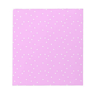 """Pink-White Dot 5.5"""" x 6"""" Notepad - 40 pages"""