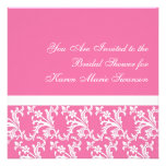 Pink & White Elegance Personalized Invite