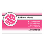 Pink white fade volleyball business cards