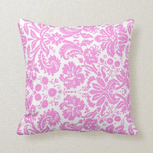 Decorative Throw Pillows Pink : Pink White Floral Decorative Pillow Zazzle