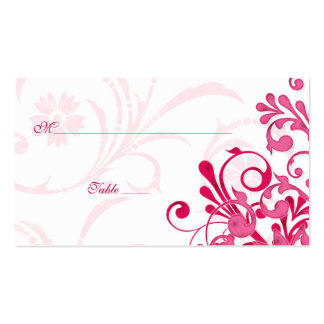 Pink & White Floral Wedding Place or Escort Cards