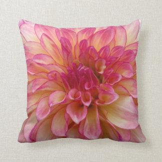 Pink White Flower Pillow
