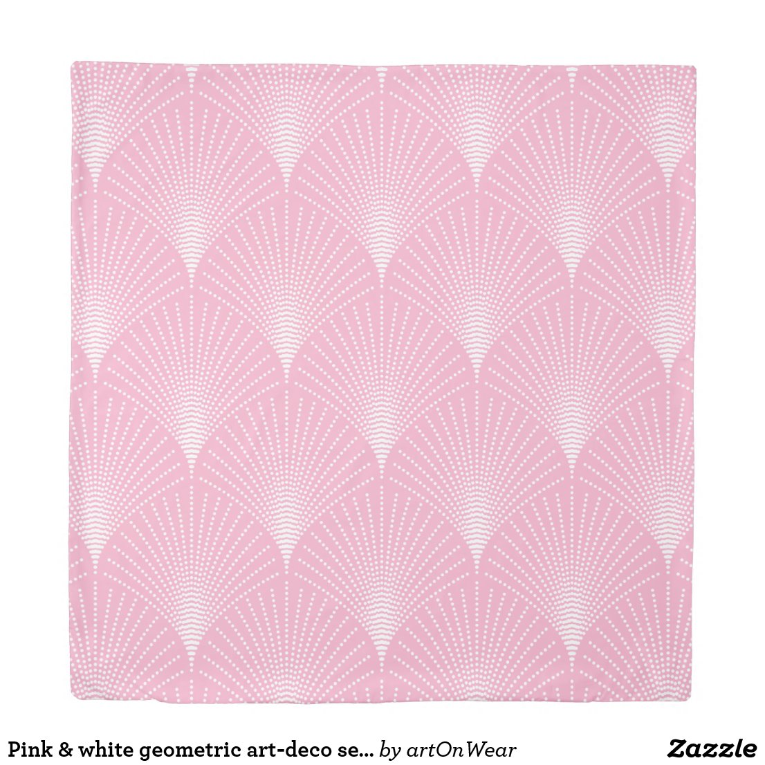 Pink & white geometric art-deco seamless pattern