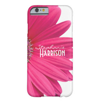 Pink White Gerbera Daisy Barely There iPhone 6 Case