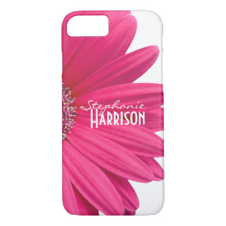 Pink White Gerbera Daisy iPhone 8/7 Case