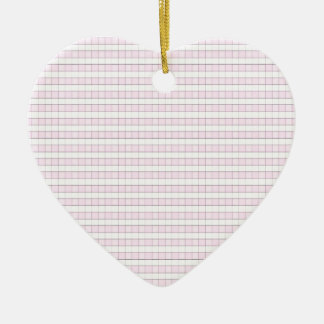 Pink & White Gingham Check Pattern Background Ceramic Ornament