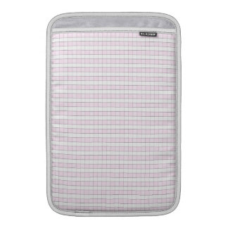Pink & White Gingham Check Pattern Background MacBook Sleeve