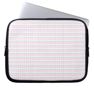 Pink & White Gingham Check Pattern Background Laptop Sleeve